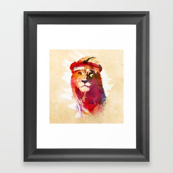 Gym Lion Framed Art Print