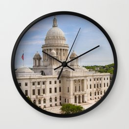 State House Capital Building of Providence, Rhode Island Wall Clock