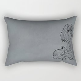 Dive Deep - Black and White Rectangular Pillow
