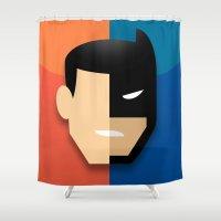 heroes Shower Curtains featuring Heroes by Evan Gaskin