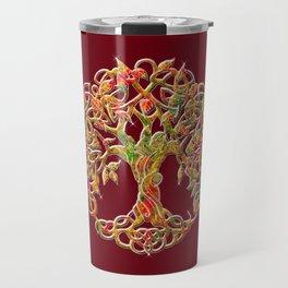 Tree of Life Maroon Travel Mug