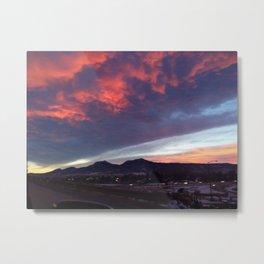 Boulder Sunset Metal Print