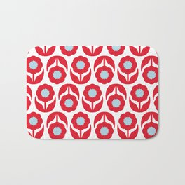 Joy collection - Red flowers Bath Mat