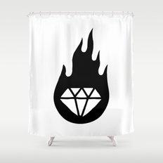Diamond Flame 2 Shower Curtain