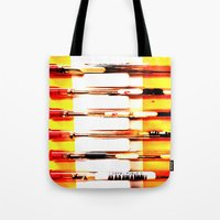 kit king Tote Bags featuring Eyeglasses Kit by Jeffrey J. Irwin