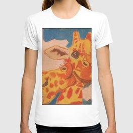 Giraffes Kissing T-shirt