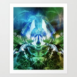 Digital Fusion Art Print