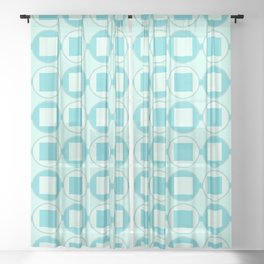 Candy Mint Sweets Pattern Sheer Curtain