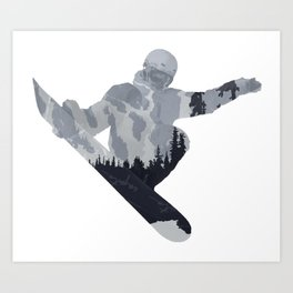 Snowboard Exposure SP | DopeyArt Art Print