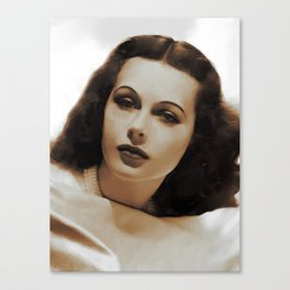Hedy Lamarr, Hollywood Legends Canvas Print