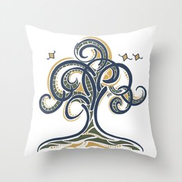 Geometric Tree Throw Pillow