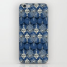 lotus diamond indigo iPhone Skin