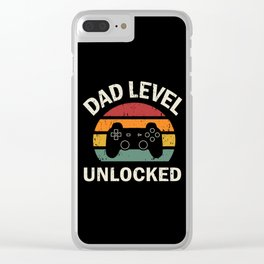 Dad Level Unlocked Clear iPhone Case