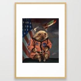 The Sloth Space Cadet Framed Art Print