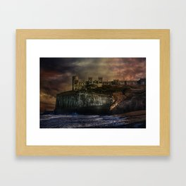 Storm Front On The Seafront Framed Art Print