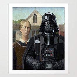 Darth Vader in American Gothic Art Print