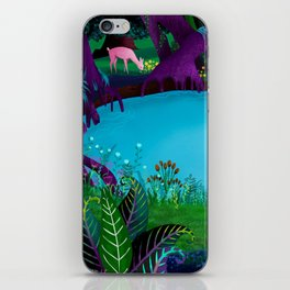 The Silent Deep Stream of Greendown Glenn iPhone Skin