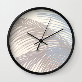Winter Palms / Abstract Botanical Wall Clock