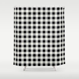 Black and Ivory Buffalo Check - more colors Shower Curtain