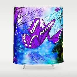 BUTTERFLY REFLECTIONS Shower Curtain