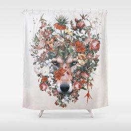 Flower wolf Shower Curtain