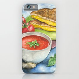 Tomato Soup with Grilled Cheese Sandwich iPhone Case
