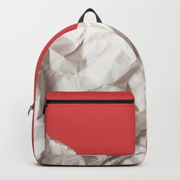 Abstract red paper background Backpack