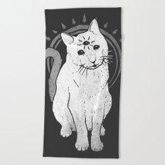 psychic Kitty 2 Beach Towel
