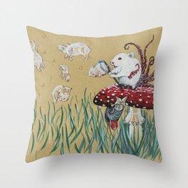 Simply Blow Throw Pillow