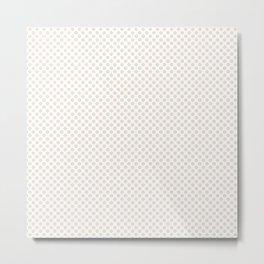 Eggnog Polka Dots Metal Print