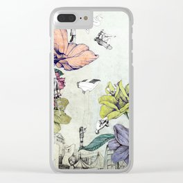 Flower forest Clear iPhone Case
