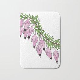 heather pink flower Bath Mat