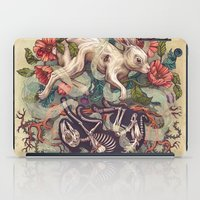 bunny iPad Cases featuring Dust Bunny by Kate O'Hara Illustration