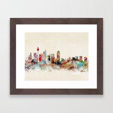 sydney australia Framed Art Print