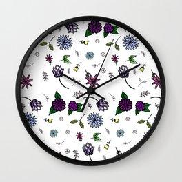 Garden Doodles Wall Clock