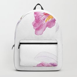 one pink orchid flower watercolor  Backpack