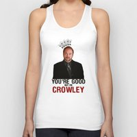 crowley Tank Tops featuring I'm Crowley - Supernatural by KanaHyde