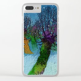 Nightfall snowing Clear iPhone Case