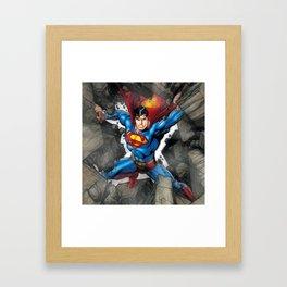 super man mighty Framed Art Print