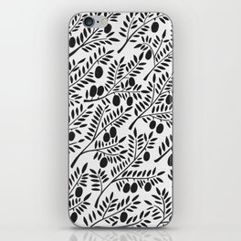 Black Olive Branches iPhone Skin
