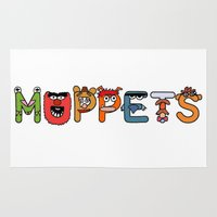 muppets Area & Throw Rugs featuring muppets by BlackBlizzard