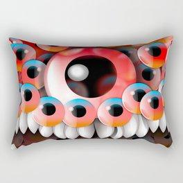 Eyeball Monster Rectangular Pillow