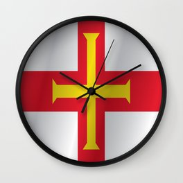 Flag of Guernsey Wall Clock