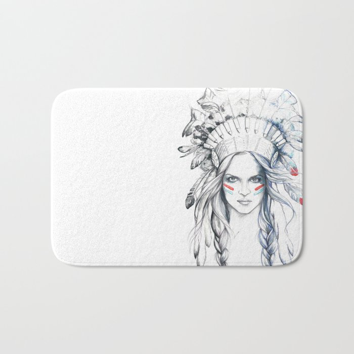 Indian Woman Bath Mat