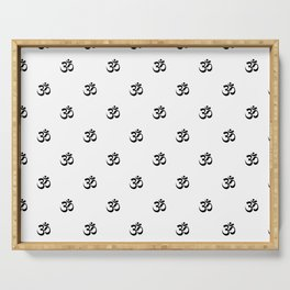 Black and White OM Pattern Serving Tray