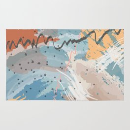 Sea Spray Blue Pattern Rug