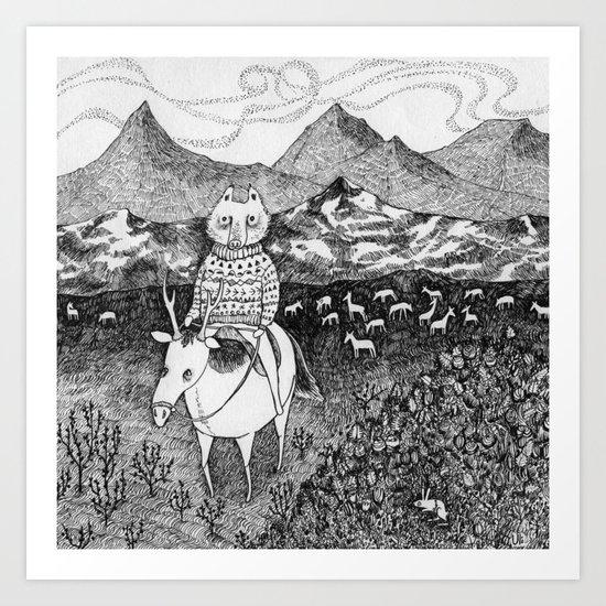 Sami fox Art Print