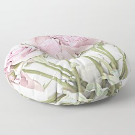 Shabby Chic Pastel Pink Roses Floor Pillow