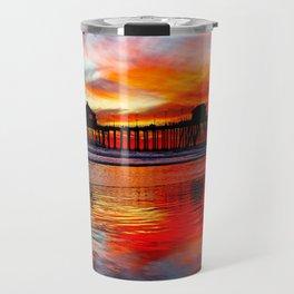 Huntington Beach Sunset    11/8/13 Travel Mug