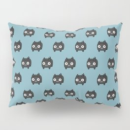 Pitbull Loaf - Black Pit Bull with Cropped Ears Pillow Sham